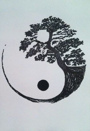 "Картина ""Дерево Инь Янь"""