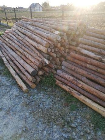 Stemple drewniane budowlane 2.8 m 350 sztuk ZAREZERWOWANE