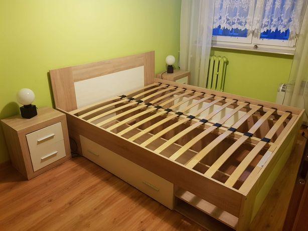 Rama łóżka jysk plus szafki
