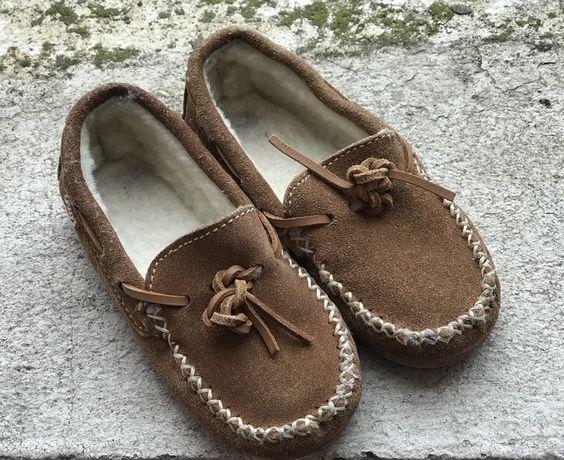 Детские мокасины на меху, Португалия, р.26 Туфли, тапочки