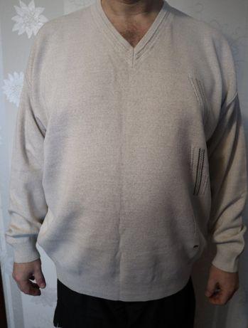 НОВЫЙ муж. свитер фирменный в упаковке 3XL (56-58 размер) 50% шерсть