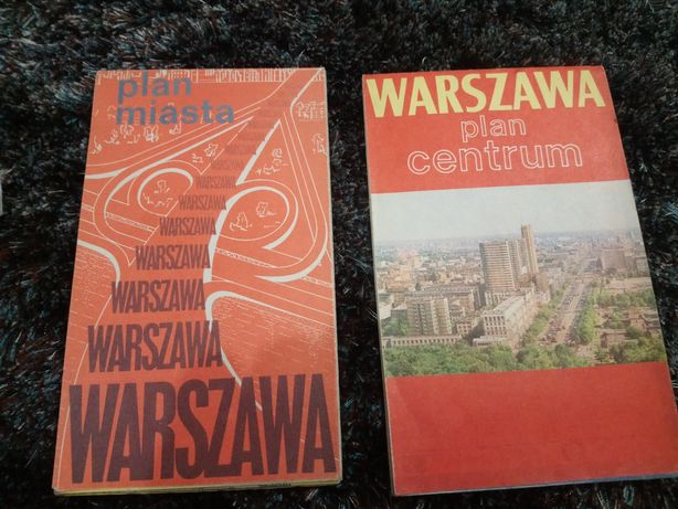 Mapa Warszawy lata 1980, 1981