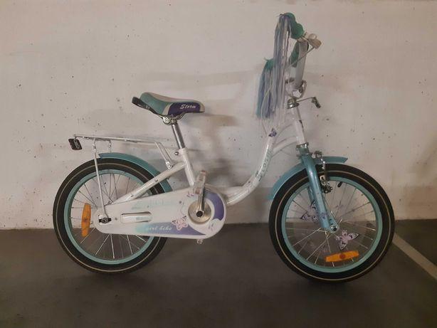 Rowerek dziecięcy dla dziewczynki koła 16