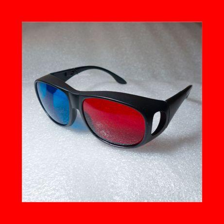 3D Очки Анаглиф Люкс: Профессиональные Красно-синие 3Д очки см. Фильмы