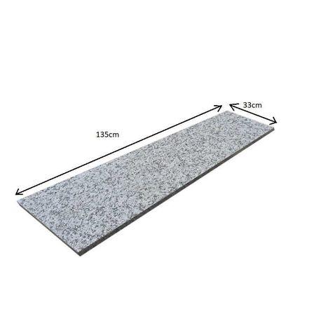 Granit Stopnica 135x33x2 Szara Płomieniowana Polerowana Gotowe Schody
