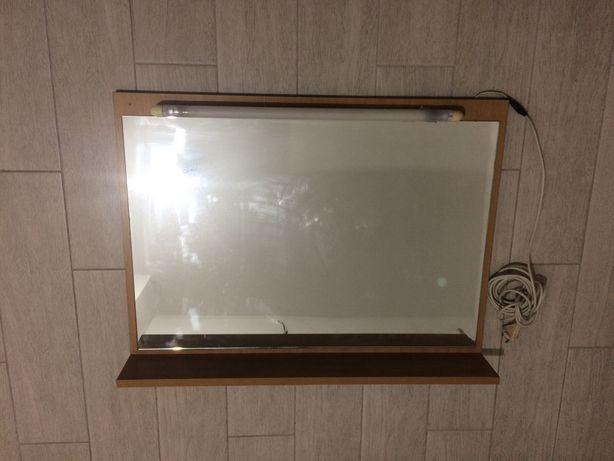 Зеркало 750х550 с полочкой и подсветкой
