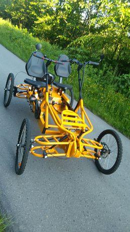 MPX4-dwuosobowy rower hybrydowy, czterokołowy wspomagany elektrycznie