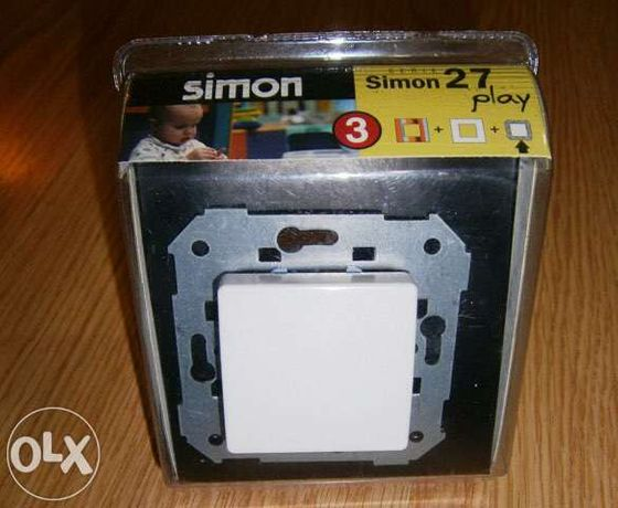 Interruptor encastrar Simon 27 Play