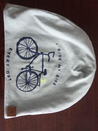 OKAZJA! Śliczna i stylowa czapka - idealna na rower! TANIO!
