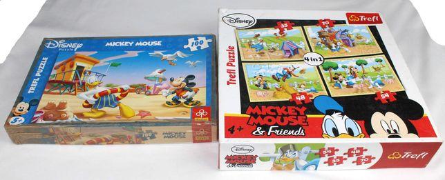 puzzle myszka miki + kaczor donald disney od 35 do 100