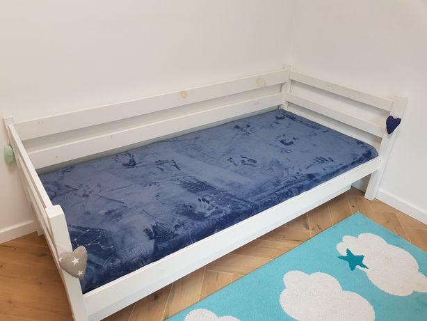 Łóżko piętrowe sosnowe białe 90x200