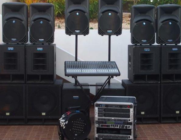 Aluguer de som para eventos e bandas