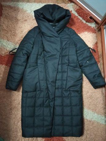 Женская зимняя куртка-кокон 46 р. М можно беременным