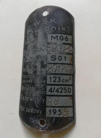 WSK tabliczka znamionowa.