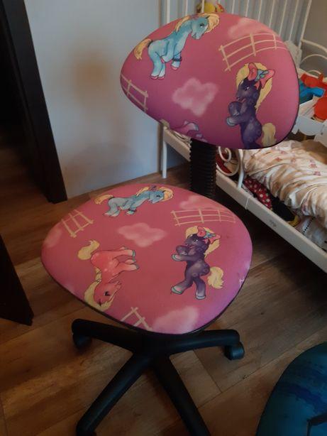 Krzesło fotel krzesła biurowe obrotowe pony kucyki dziecięce