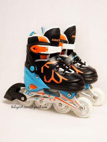 Ролики детские Scale Sports LF 601A. Роликовые коньки.