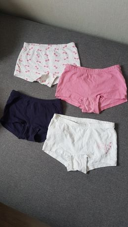 Zestaw majteczki figi bokserki dla dziewczynki rozmiar 110-116