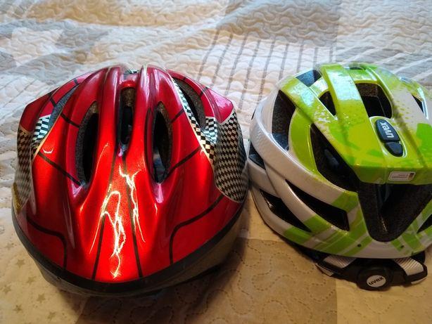 Witam sprzedam dwa kaski rowerowe 1 to Uvex nowy drugi goodbike używan