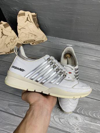 Кожаные кроссовки оригинал dsquared