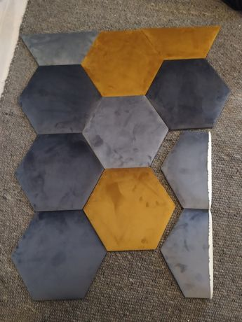 Panele tapicerowane hexagon, sześciokąt