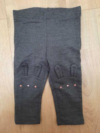 Legginsy spodnie spodenki dziewczęce h&m, r.74. Króliczek.