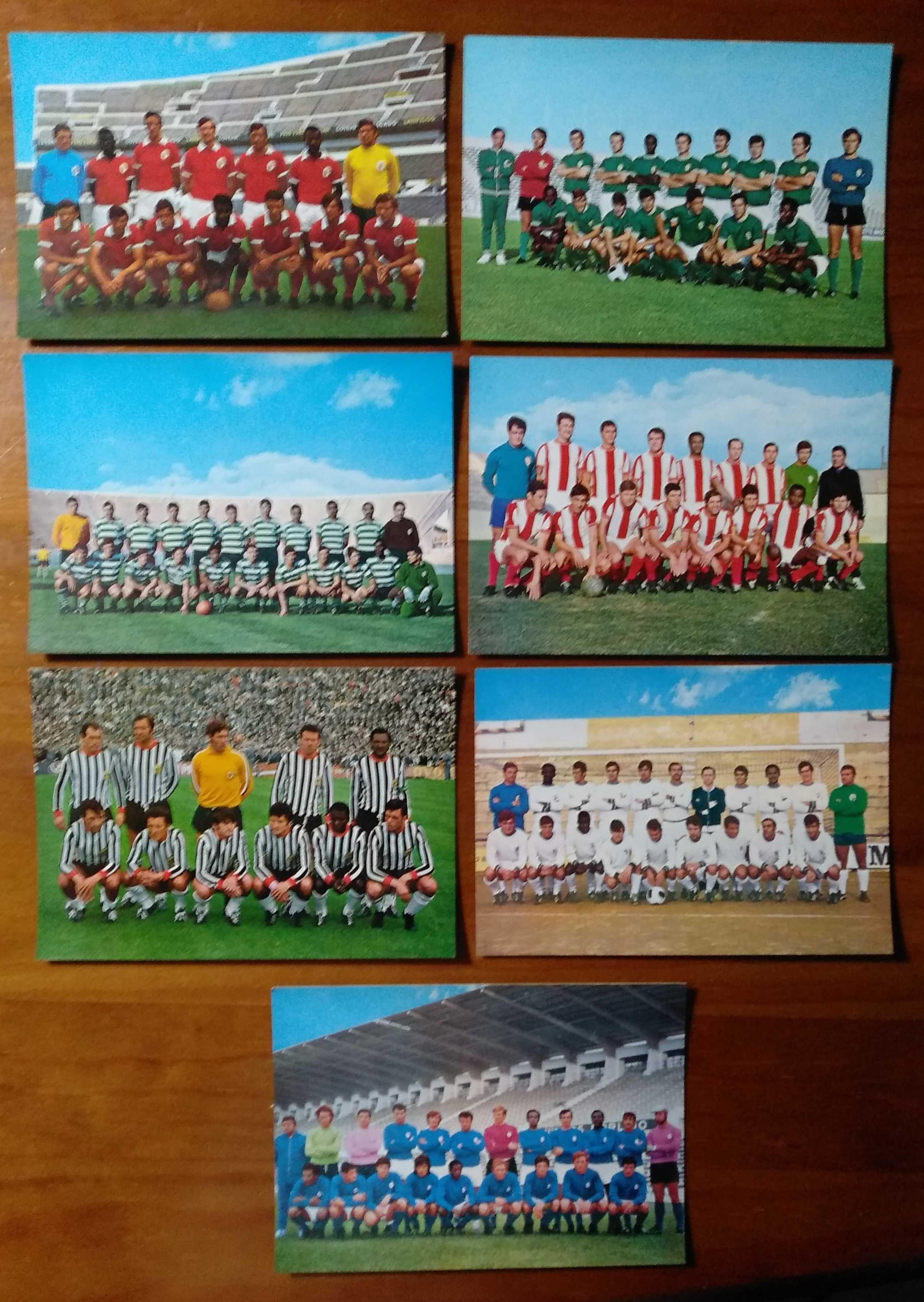 Lote de 7 postais de antigas equipas de futebol de Portugal