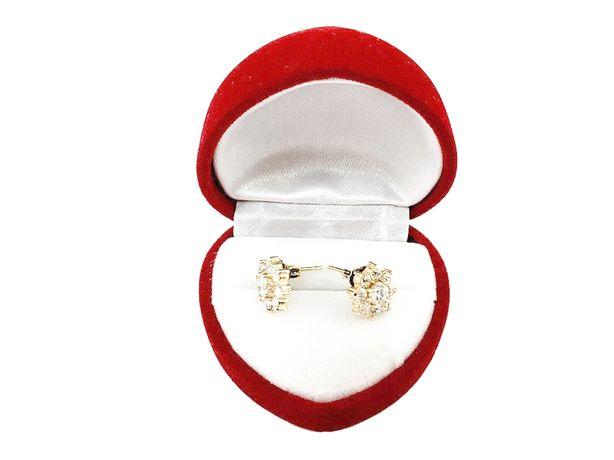 Złote kolczyki z cyrkoniami P.585 | 2,99G