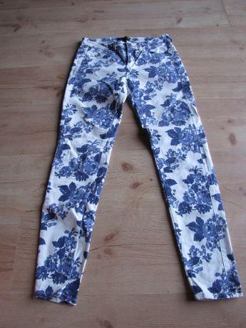 spodnie w kwiaty xs