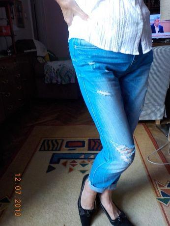 """Spodnie z """"dziurami""""- jeans AMISU typu Boyfriend Skinny- rozm.28"""