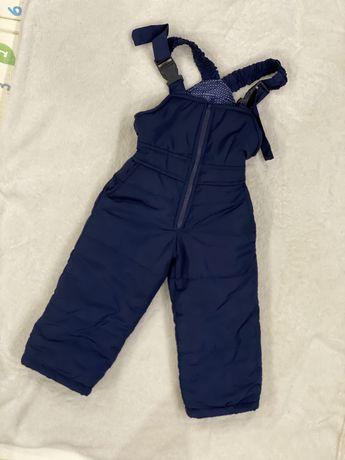 Теплый полукомбинезон, теплые штаны
