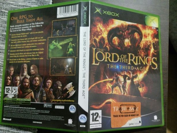 Lord of the Rings The Third Age XBOX +The fellowship of the ring 2 gry