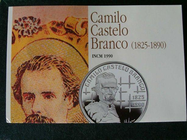 Moeda 100$00 - CAMILO CASTELO BRANCO / Prata BNC