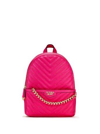 Стильный рюкзак Виктория Сикрет Victoria's Secret малиновый