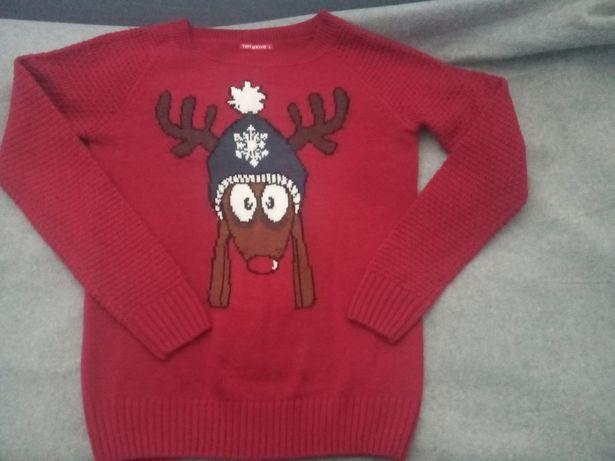 Sweter z motywem świątecznym Renifer