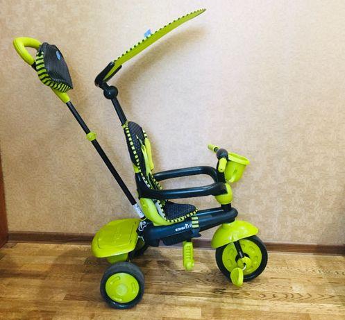 Велосипед Smart Trike трансформер, для детей 1-3 лет, колесо, козырёк