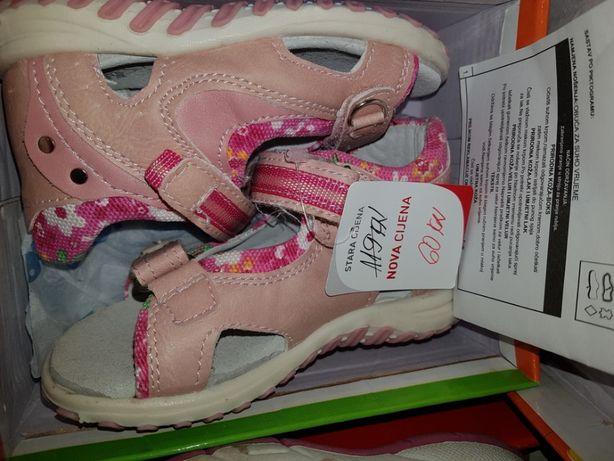 22 nowe tofi sandały różowe rzep