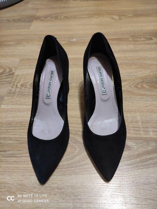 Туфлі замшеві жіночі чорні Борисполь - изображение 1