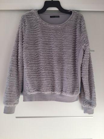 Siwy włochaty pluszowy sweter Atmosphere