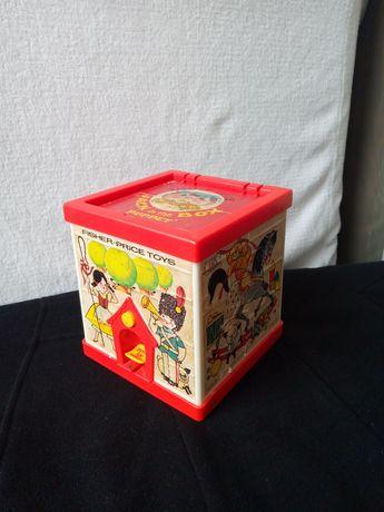 Антикваріан Original Vintage 1970's Fisher Price Jack In The Box Puppe