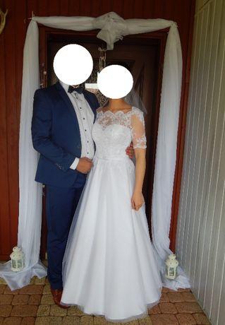 Biała suknia ślubna, rozm.38