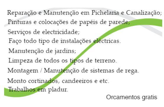 Canalizador/Picheleiro e jardinagem