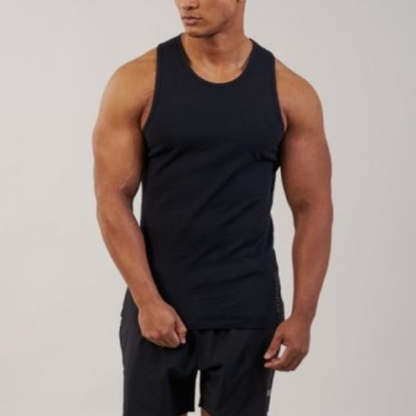 Gymshark tank top bokserka brushed cotton tank r. S nowy