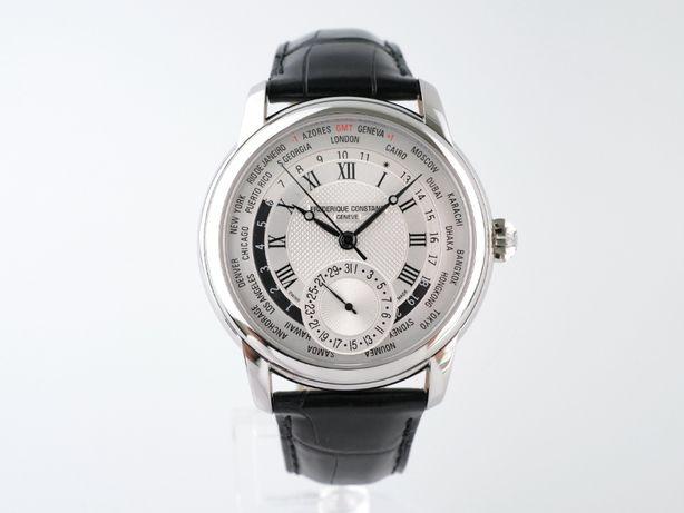 Мужские новые часы Frederique Constant Worldtimer 42 мм