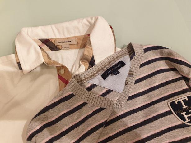 sweter i bluzka Tommy Hilfiger i Burberry ⁸