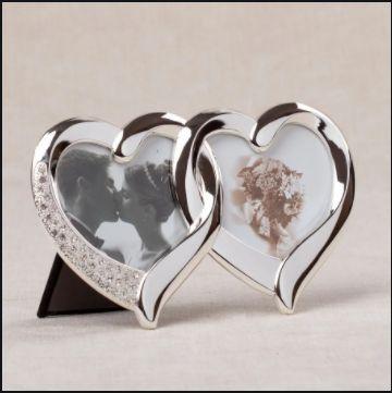 Фоторамка сердечки из метала.