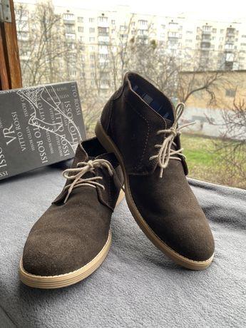 Ботинки замша на байке