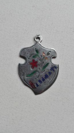 На Память серебро Царская Россия украшение кулон 1908г, редкость эмали