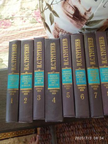 Продам книги сочинения Тургенева, 12 томов