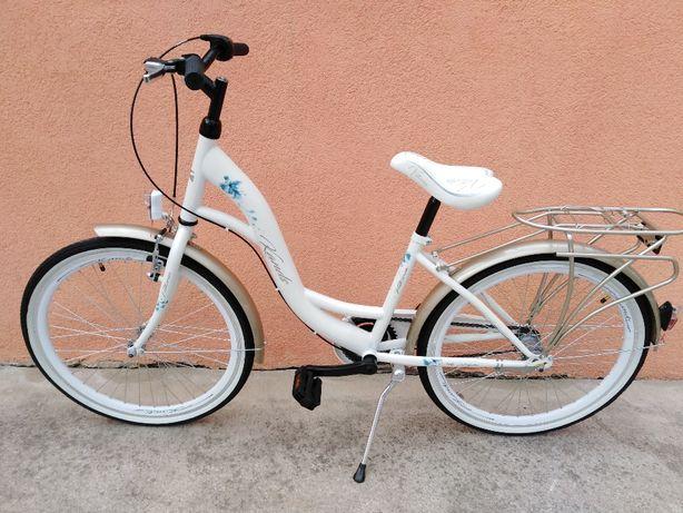 """Rower miejski 24"""" Nowy komunijny 3 biegi Shimano Nexus dziewczęcy"""