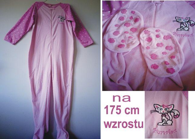 śpiochy piżama damska animal kolor różowy maksymalny wzrost 175 cm